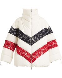 Moncler Gamme Rouge | Chunjie Tri-colour Lace Quilted Down Jacket | Lyst