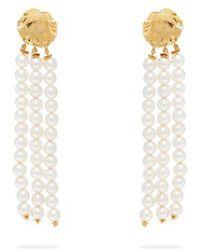 Elise Tsikis - - Madera Faux Pearl Tassel Drop Earrings - Womens - White - Lyst