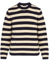 JOSEPH - Striped Chunky-knit Wool Sweater - Lyst