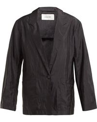 Lemaire - Single Breasted Voile Blazer Jacket - Lyst