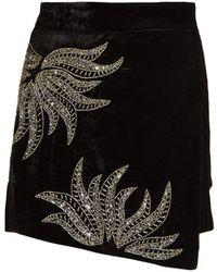 Dodo Bar Or - Embellished Ruched Mini Skirt - Lyst