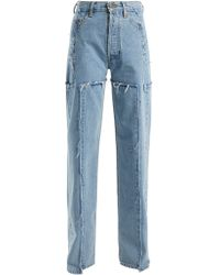 Vetements High Rise Straight Leg Jeans