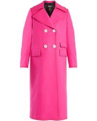 MSGM | Double-breasted Wool-blend Coat | Lyst