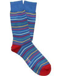 Paul Smith - Zanzi Striped Cotton Blend Socks - Lyst