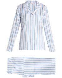 Derek Rose - Wellington 46 Striped-cotton Pyjamas - Lyst