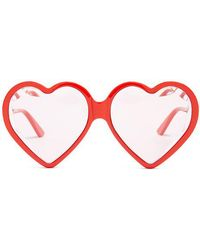 Gucci - Heart-shaped Frame Sunglasses - Lyst