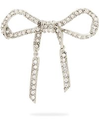 Oscar de la Renta - Crystal-embellished Bow Brooch - Lyst