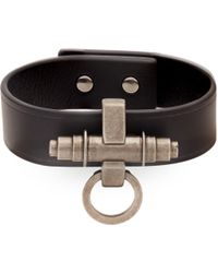 Givenchy - Obsedia Simple Leather Bracelet - Lyst