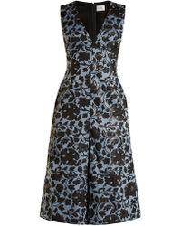 Erdem - Kamila Floral Jacquard Midi Dress - Lyst