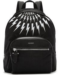 Neil Barrett - Fairisle Lightning-bolt Nylon Backpack - Lyst