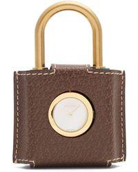 Gucci - Constance Web Striped Plexiglas Padlock Watch - Lyst