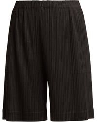 Pleats Please Issey Miyake - Wide-leg Pleated Shorts - Lyst