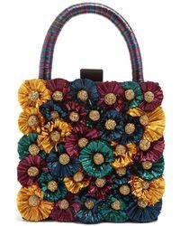 Sanayi 313 - Flora Embellished Twill Box Clutch - Lyst