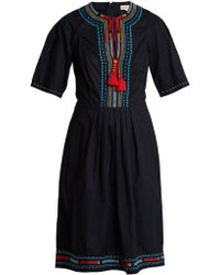 Talitha - Anita Embroidered Cotton Dress - Lyst