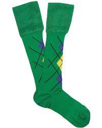 Versace - Argyle High Socks - Lyst