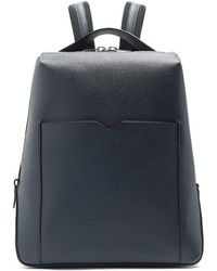 Valextra - Grained-leather Backpack - Lyst