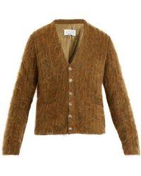 Maison Margiela - Brushed-mohair Wool-blend Cardigan - Lyst