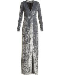 Galvan London - Cloud Hammered Velvet Gown - Lyst