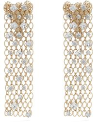 Lanvin - Crystal-embellished Chain Clip-on Earrings - Lyst