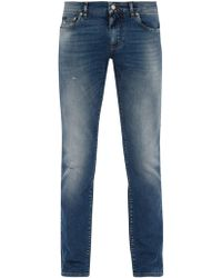 Dolce & Gabbana - Light Wash Skinny Jeans - Lyst