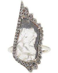 Susan Foster - Diamond Slice & White-gold Ring - Lyst