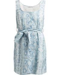 Emilia Wickstead - Python Print Belted Linen Dress - Lyst