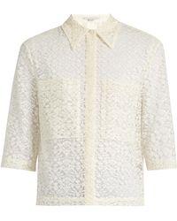 Stella McCartney - Short-sleeved Lace Shirt - Lyst