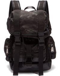 Balmain - Camouflage Print Nylon Backpack - Lyst
