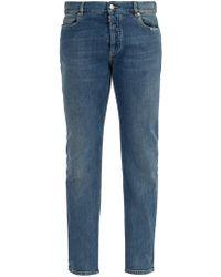 Maison Margiela - Clear Panel Slim-leg Jeans - Lyst