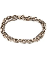 Title Of Work - Bracelet en argent sterling à maille vénitienne - Lyst