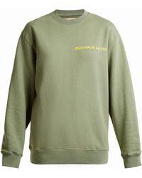 Eckhaus Latta - Round-neck Logo-print Cotton Sweatshirt - Lyst