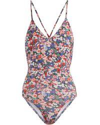 Ephemera - Liberty Classic Laced-back V-neck Swimsuit - Lyst