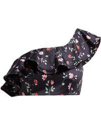Ganni - Jackson Floral-print One-shoulder Bikini Top - Lyst