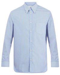 Maison Margiela - Point-collar Striped Cotton Shirt - Lyst