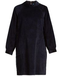 M.i.h Jeans - - Inigo Cotton Blend Corduroy Mini Dress - Womens - Navy - Lyst