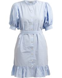 Mes Demoiselles - Tropique Gingham Check Cotton Dress - Lyst