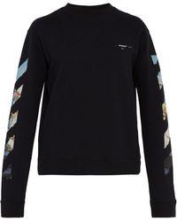 Off-White c/o Virgil Abloh - Sweat-shirt en coton à imprimé grahique flèches - Lyst