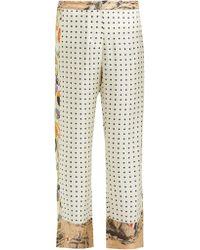 La Prestic Ouiston Riviera Polka Dot Silk Trousers