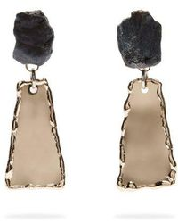 Proenza Schouler - Stone Hammered Clip-on Earrings - Lyst