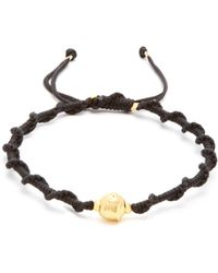 Black Dakini | Gold-vermeil And Cord Bracelet | Lyst