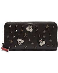 Christian Louboutin Panettone embellished zip-around leather key ring 7wO9r