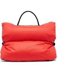 Valextra - Reversible Mini Puffer Bag Jacket - Lyst