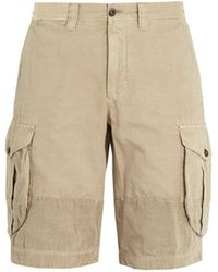 Incotex - Mid Rise Straight Leg Cotton Cargo Shorts - Lyst