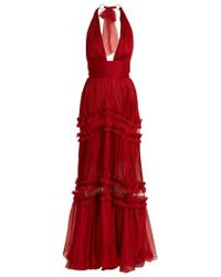 Maria Lucia Hohan - Kalina Pleated Halter Gown - Lyst