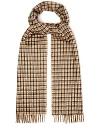 Prada - Reversible Checked Silk And Cashmere Blend Scarf - Lyst