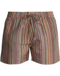 Paul Smith - Signature Stripe Print Swim Shorts - Lyst
