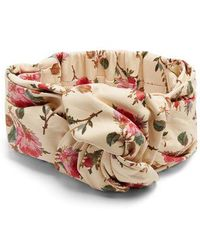 Gucci - Floral-print Leather Headband - Lyst