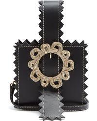 Jacquemus - Le Sac Gitan Zigzag-edged Leather Clutch Bag - Lyst