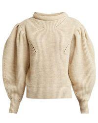 Isabel Marant - Brettany Puff-sleeve Wool Jumper - Lyst