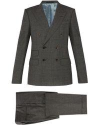 Gucci - Costume en laine à double boutonnage - Lyst